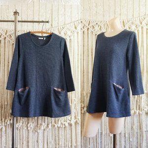 {euc} Thermal Knit Oversized Draped Sweater 🍂